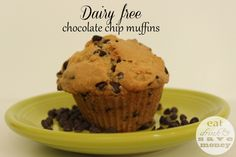 Recipe for dairy free chocolate chip muffins