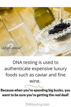 Did you know? #DNA testing is used to authenticate expensive luxury foods such as caviar and fine wine.