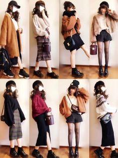 ぴょんさんのコーディネート Japan Fashion, Daily Fashion, Love Fashion, Womens Fashion, Fashion 2016, Japan Outfits, Fall Outfits, Fashion Outfits, Fashion Trends