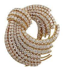 David Webb. Gold Diamonds Brooch