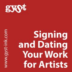 signing and dating your work for artists