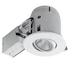 Globe Electric 5 in. White Recessed Sleek Directional Lighting Kit Home Depot $11.84