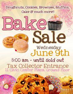 Bake Sale Flyer Template Free cakepins.com                                                                                                                                                                                 Más