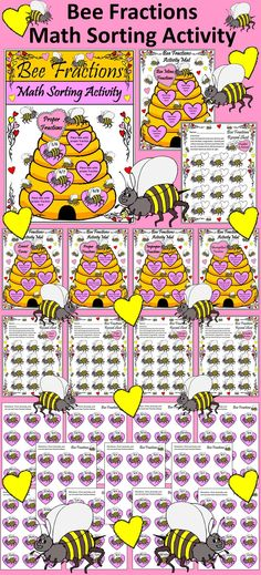 Valentines, Fractions Student, Fractions Worksheets, Math Valentines ...