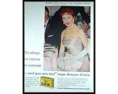1950's Movie Star Jeanne Crain Lux Detergent by thevintageshop