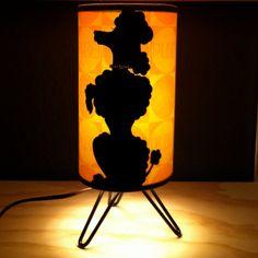 Black Velvet Poodle Lamp with Rhinestone by moonbootprinting, $150.00