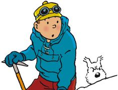 Tintin - from 'Tintin in Tibet' - searching for Chang :'(