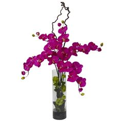 Giant Orchid Phalaenopsis & Hydrangea Silk Flower Arrangement  >>  Now THIS is something to behold. A generously sized Phalaenopsis that will add pizzazz to any area it adorns. With green leaves on the stem, spiny stems that twist upwards, and the literal color explosion permeated by the lush blooms, this is a piece for anyone who requires something bold and beautiful. >>  http://decoratetheseason.com/Giant-Orchid-Phalaenopsis-Hydrangea-Silk-Flower-Arrangement_p_1242.html