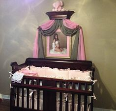 Bed Crown Mahogany Stained Teester Princess by TheChicDecorShop & Bed Crown Canopy / Crib Crown / Teester / by TheChicDecorShop ...