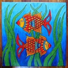 fish art    #fishart #fishcanvas #homedecorating  #wallart #interiordecorating