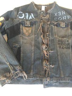 Jeans Jacket Nobody Rustic Boho Women M Heart Patches Designer Fashion  #Nobody #JeanJacket