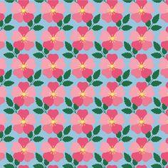 In The Beginning Americas Garden Deco State Iowa Wild Prairie Rose | Quilting