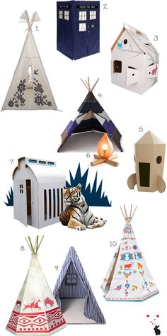Top ten play tents & teepees. I love no.2!! Doctor Who, anyone? ;)
