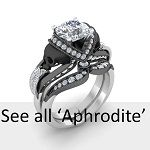 2.10ct White Diamond Skull White Gold Bridal set | Sapphire Studios