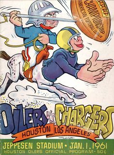 AFL Championship Game Program 1961 Los Angeles Chargers Houston Oilers