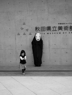 Spirited Away, No face (Akita Museum of Art, Akita Perfecture, Japan) Akita, Yamaguchi, Hiroshima, Totoro, Studio Ghibli, Japan Kawaii, Go To Japan, Japan Japan, Turning Japanese
