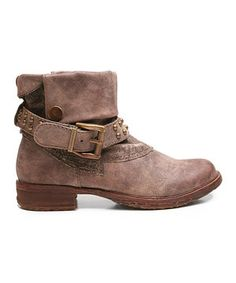 Another great find on #zulily! Brown Too Fast Ball Ankle Boot by Two Lips Too #zulilyfinds