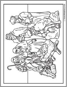 free christmas coloring pages manger shepherds wiseman | Coloring (Angel Telling Shepherds about Jesus' Birth ...