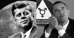 GOING DOWN THE DRAIN - TX Gov: JFK Wanted Men on Moon, Obama Wants Men in Women's Restroom