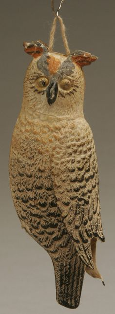 Antiqued Dresden owl ornament..I love this