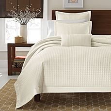 image of Real Simple® Retreat Duvet Cover, 100% Cotton Sateen, 300 Thread Count - Ivory