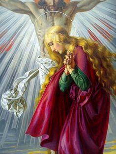 Magdalena al peu de la Creu Karl Wrum