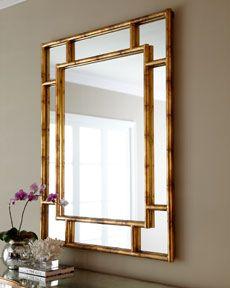 "Arteriors ""Bamboo"" paneled mirror Horchow"