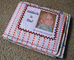 Plan to make one of these fabric books for Carmen's first birthday!