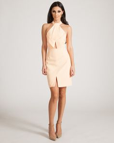 FINDERS KEEPERS BILLIE JEAN SOFT APRICOT DRESS available on shopfashtique.com
