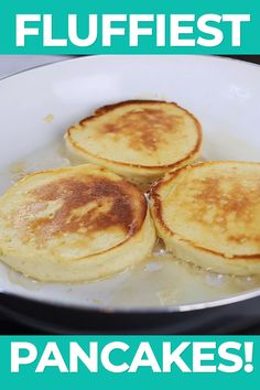 These souffle pancakes without baking powder are impossibly light and airy Whipped egg whites act as a replacement for the baking powder in the pancakes and create an incredibly fluffy texture. This recipe can be whipped together in minutes Homemade Pancakes, Pancakes Easy, Breakfast Pancakes, Egg White Pancakes, Fluffy Pancakes, Protein Pancakes, Banana Pancakes, Pancakes Recipe Without Baking Powder, Substitute For Baking Powder