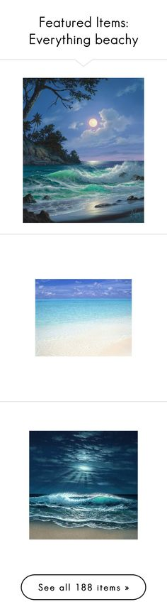 """Featured Items: Everything beachy"" by bluecatreview13 ❤ liked on Polyvore"