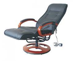 Relaxačné kreslo Artuš 2 má polohovateľné operadlo a elektricky riadených 8 masážnych bodov. Je čalúnené hovädzou kožou v kombinácii s ekokožou. Drevené časti sú vo farbe čerešňa