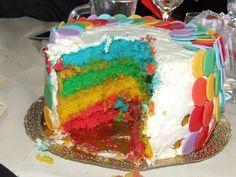 Rainbow Cake Torta Arcobaleno INSIDE!