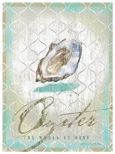 Oyster Canvas Art   OceanStyles.com