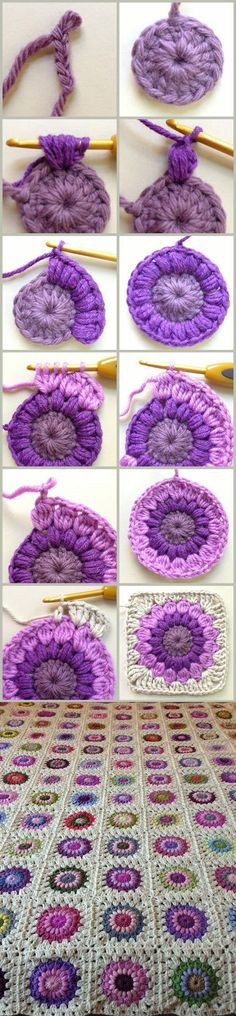 Sunburst Granny Square Pattern  (FREE Tutorial)                                                                                                                                                                                 More