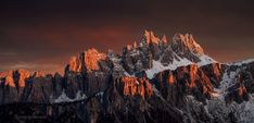 Glowing peaks in Dolomites Another Earth, Amazing Nature, First Photo, Mount Everest, Scene, In This Moment, Explore, Mountains, Sunset