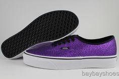 Purple sparkly vans