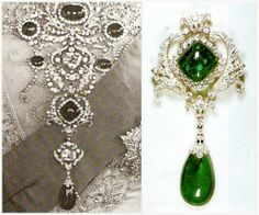 From Her Majesty's Jewel Vault: The Delhi Durbar Stomacher and Scroll Cambridge Emerald Brooch