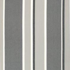 Linum Shanghai Grey Stripe Fabric