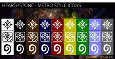 Hearthstone - Metro Style Icons by xmilek.deviantart.com on @deviantART