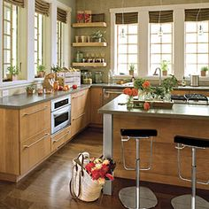 Davidson Gap Kitchen: this is not really from Ikea, but as I think about a kitchen remodel with Ikea, I like some of the layout ideas here