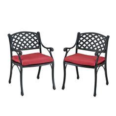 (Set of 2) Walker Edison Furniture Aluminum Patio Dining Chair