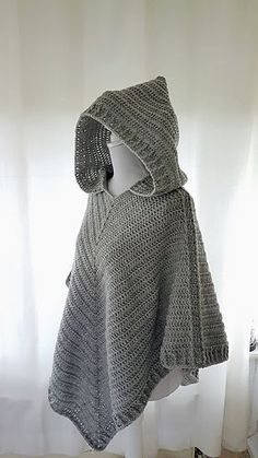 Hooded poncho crochet pattern by Frisian Knitting