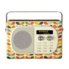 Radio & radio réveil Pure Evoke Mio Orla Kiely  Radio FM portable avec entrée pour iPod / Lecteur MP3