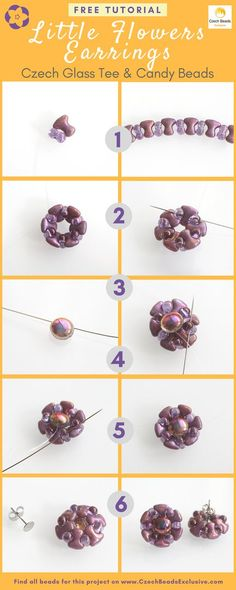 ? Are you ready for a tee party? Wait, we know what you are searching for � new stylish bead weave earrings pattern! In this case, we have prepared a little flower tee bead earring pattern tutorial for you. As for the central flower element of this bead weave earrings pattern, it can be made using Czech Glass Candy beads. Flower earrings leaf pattern you can create by alternating Czech Glass Tee beads with popular unique Czech Glass Farfalle seed beads. These free bead pattern earrings are…