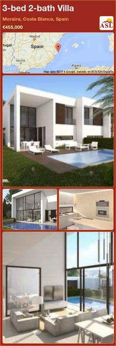3-bed 2-bath Villa in Moraira, Costa Blanca, Spain ►€455,000 #PropertyForSaleInSpain