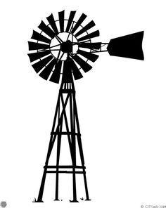 Farm Windmill, Old Windmills, Silhouette Design, Silhouette Projects, Western Movies, Stuff And Thangs, Le Far West, Old Farm, Vinyl Crafts