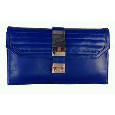 Riot Clutch in Eco Friendly Lambskin-Color :INDIGO -Modalyst | The Leading Wholesale Marketplace for Fashion Accessories