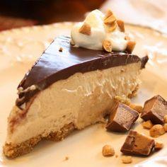 Rich, decadent, creamy chocolate peanut butter pie.