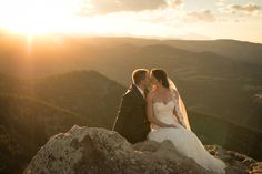 Sunrise Amphitheater Wedding Mountain Layers Sunset